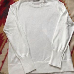 Everlane white cotton sweater
